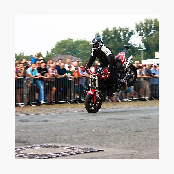 motorcycle stunt 001 Photographic Print