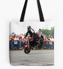 motorcycle stunt 002 Tote Bag