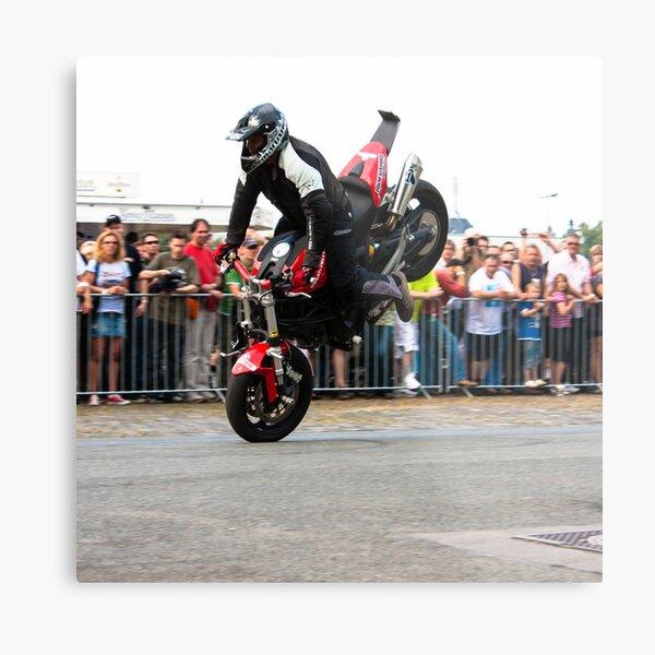 motorcycle stunt 003 Metal Print