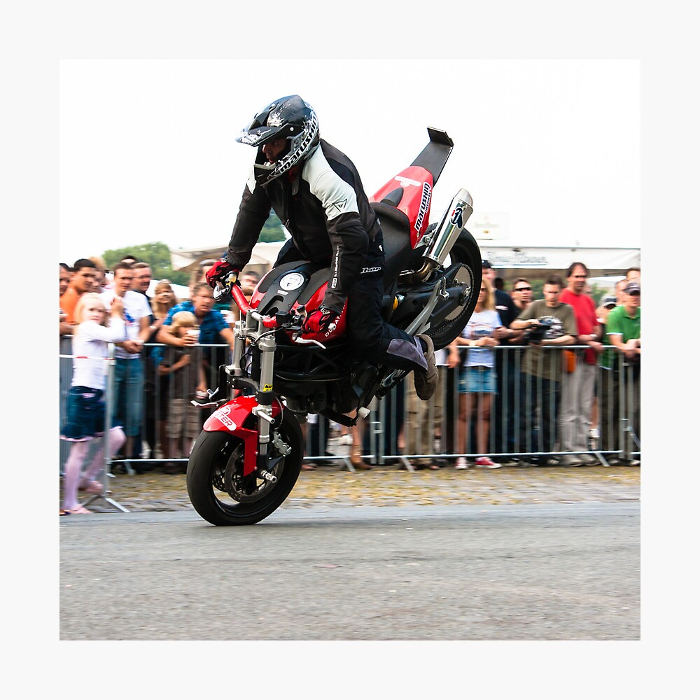 motorcycle stunt 004 Photographic Print