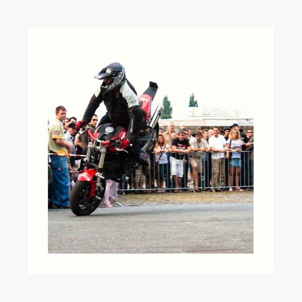 motorcycle stunt 005 Art Print