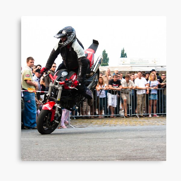 motorcycle stunt 005 Canvas Print