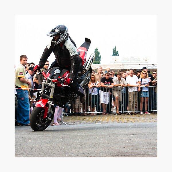 motorcycle stunt 005 Photographic Print