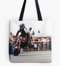 motorcycle stunt 005 Tote Bag