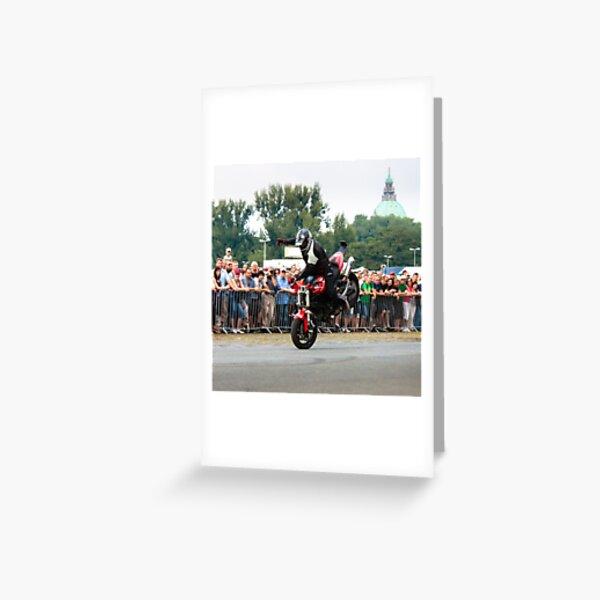 motorcycle stunt 006 Greeting Card