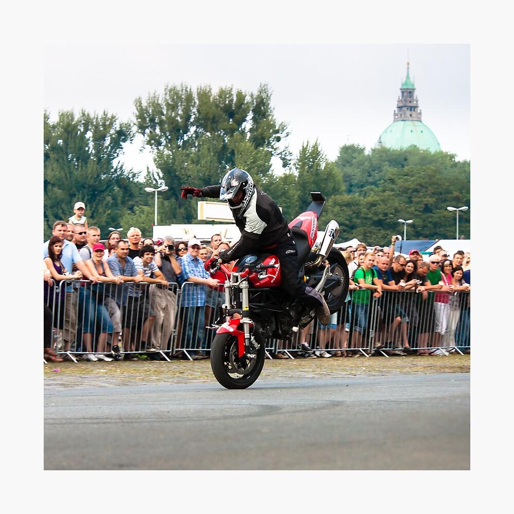 motorcycle stunt 006 Photographic Print