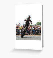 motorcycle stunt 007 Greeting Card