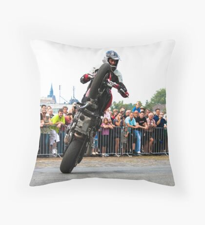 motorcycle stunt 007 Throw Pillow