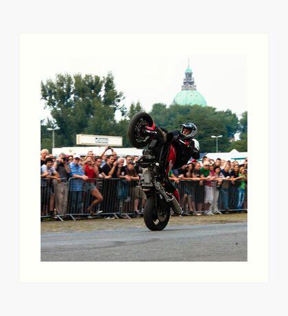 motorcycle stunt 009 Art Print