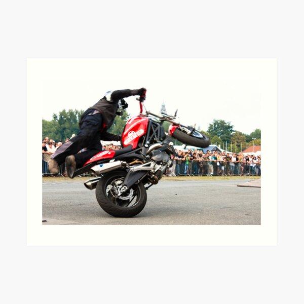motorcycle stunt 008 Art Print