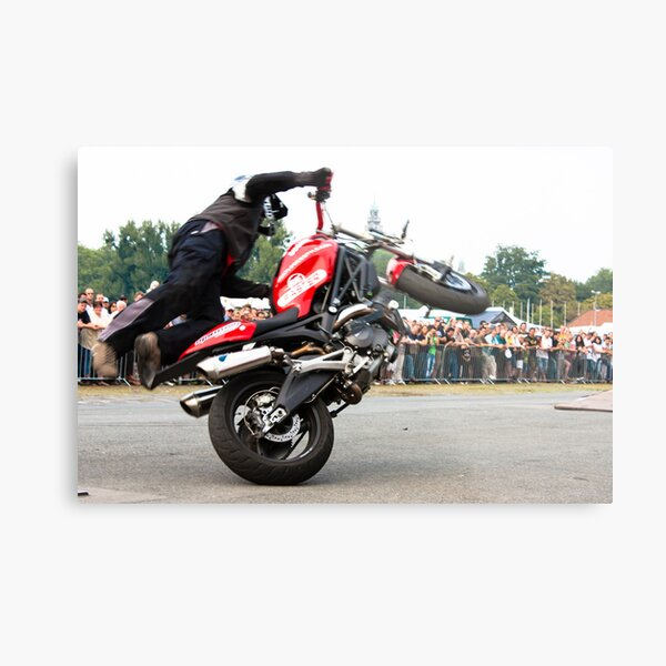 motorcycle stunt 008 Metal Print