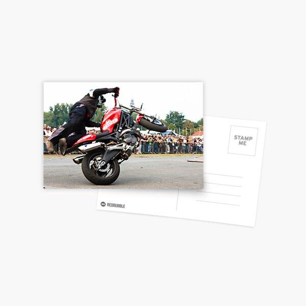 motorcycle stunt 008 Postcard