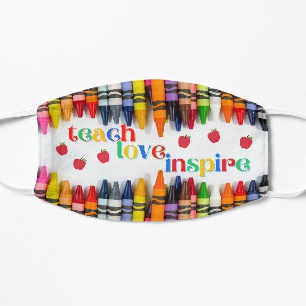 Teach Love Inspire Crayons Teacher Face Mask Flat Mask