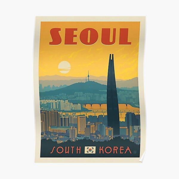Séoul, Corée du Sud Poster