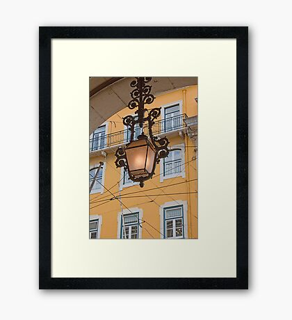 Lisbon lamp Framed Print
