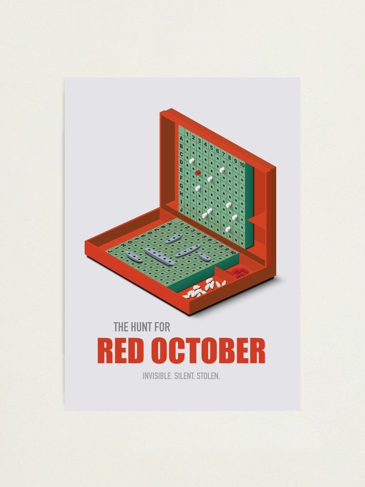 Alternate view of The Hunt for Red October - Alternative Movie Poster Photographic Print