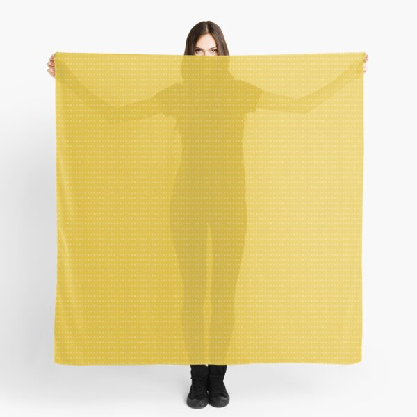 IPA scarf - mustard and white Scarf