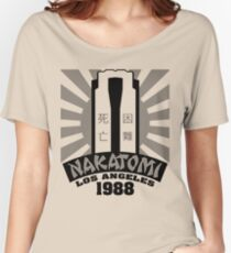 Nakatomi, 1988 (Black Print) Women's Relaxed Fit T-Shirt