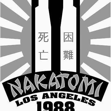 Nakatomi, 1988 (Black Print) by GritFX