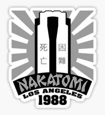 Nakatomi, 1988 (Black Print) Sticker