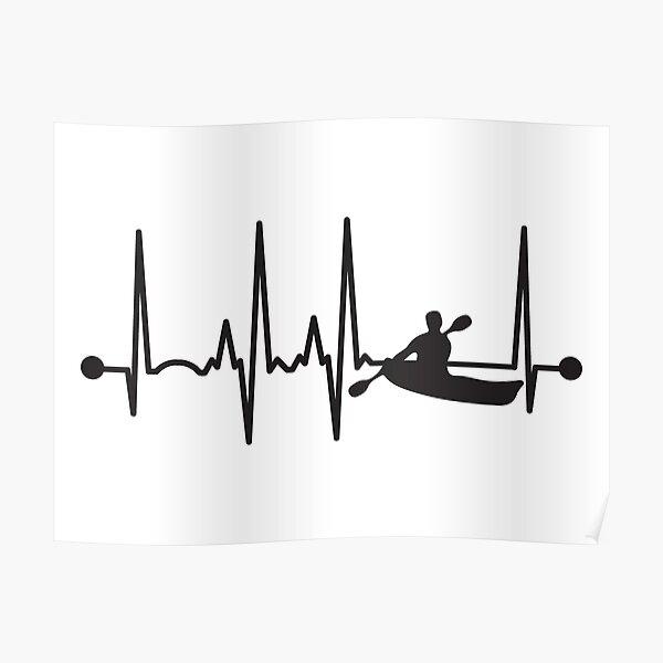 Kayak Heartbeat Poster