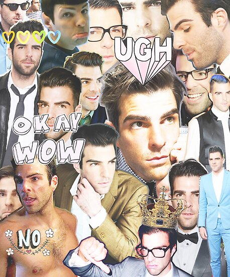 zachary quinto collage by cocosuspenders