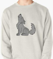 Solid Gray Howling Wolf Pup Pullover