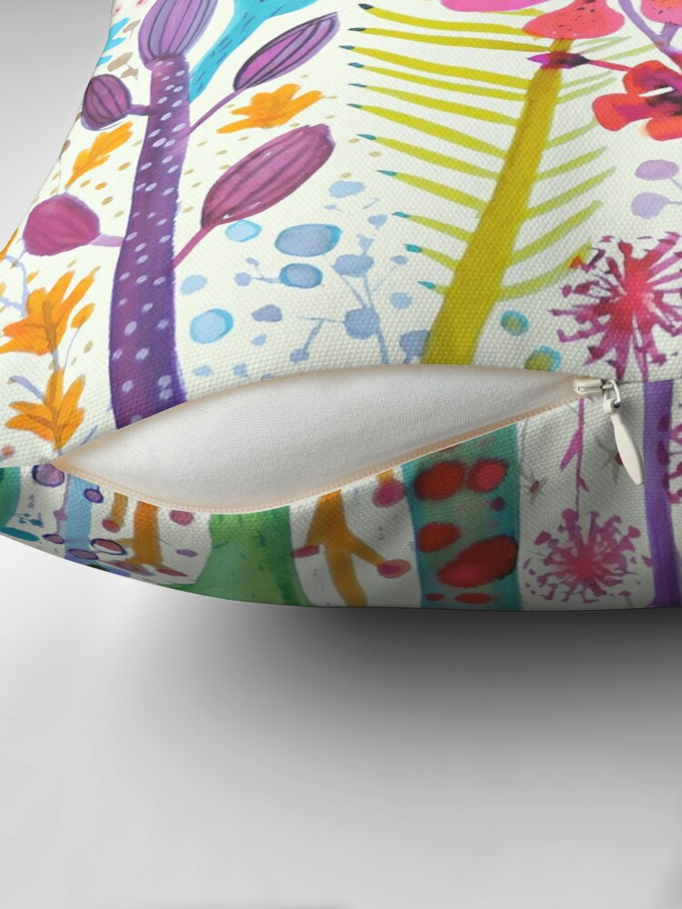 Alternate view of mighty jungle Throw Pillow