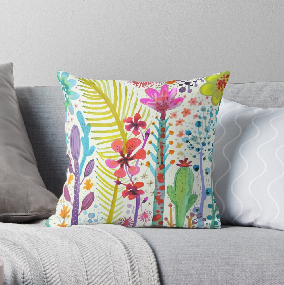 mighty jungle Throw Pillow