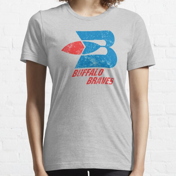 Buffalo Braves Distressed Logo - Defunct Basketball Team - 1970s Expansion Team for New York - Predecessors to the Los Angeles Clippers Essential T-Shirt