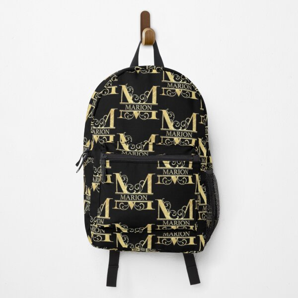 Marion Name -  Monogram Letter M The Name Marion Gift For Marion Backpack