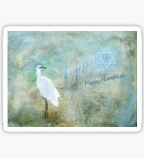 "Seascape ""Happy Hanukkah"" ~ Greeting Cards Plus More! Sticker"
