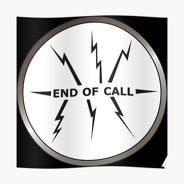 Videophone 'End Call' screen from 'Thunderbirds Poster