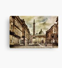 Textured Newcastle Upon Tyne Canvas Print