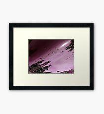 City After Rain (purple) Framed Print