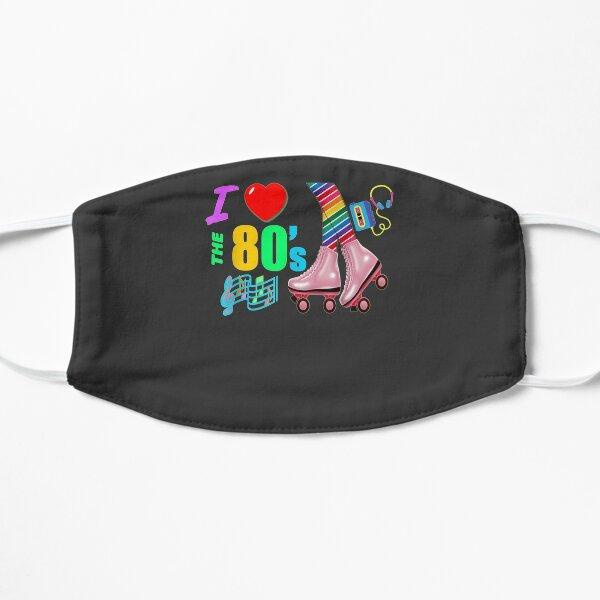 I Love The 80's Retro Rainbow Legs Pink Roller Skates Gift  Flat Mask