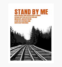 Stand By Me Movie Poster Photographic Print