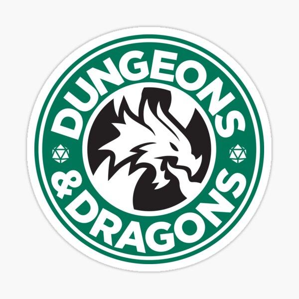 Dungeons and Dragons Starbucks Sticker