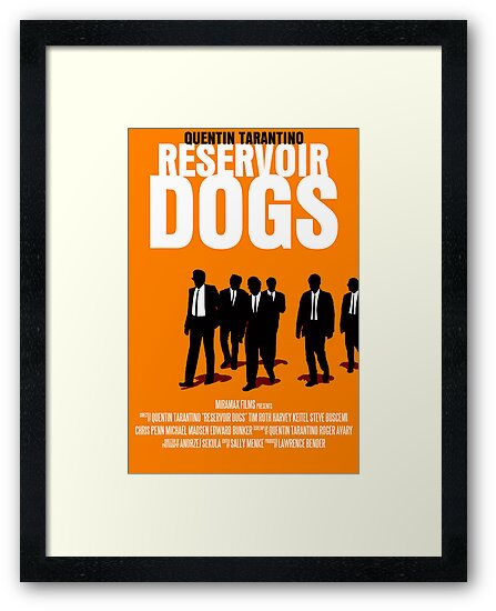 Reservoir Dogs Movie Poster by FunnyFaceArt