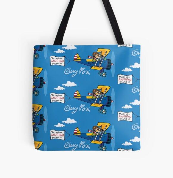Guy Fox I Love Flying All Over Print Tote Bag
