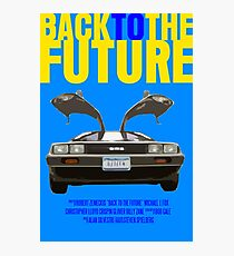 Back To The Future Movie Poster Photographic Print