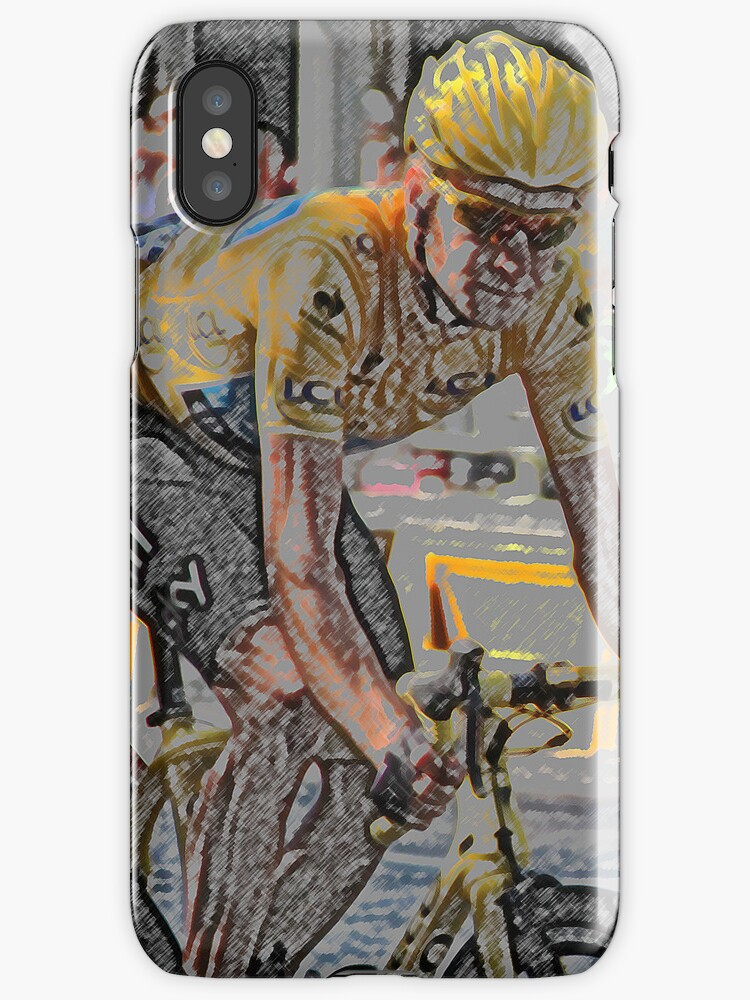 Bradley Wiggins - iPhone Case (Abstract) by MelTho