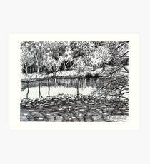 'BASS LAKE, BLOWING ROCK, NC'  Art Print