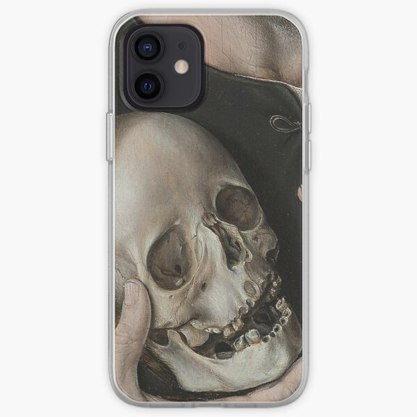 Hands with a skull painting detail iPhone Soft Case