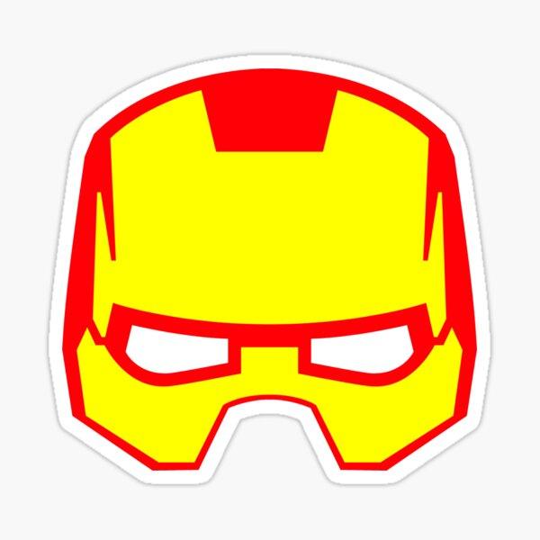 Super hero mask (Iron man) Sticker