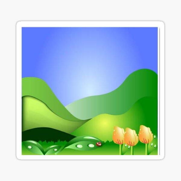 flower and landscape Sticker
