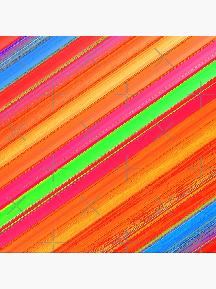 SHADES OF ORANGE DIAGONAL STRIPES- WITH GREEN AND BLUE ACCENT STRIPES  by ozcushionstoo