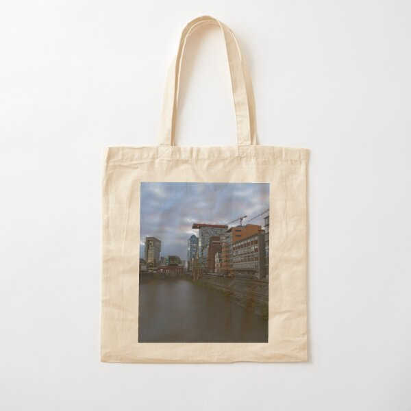 Media Harbour At Sunset Cotton Tote Bag
