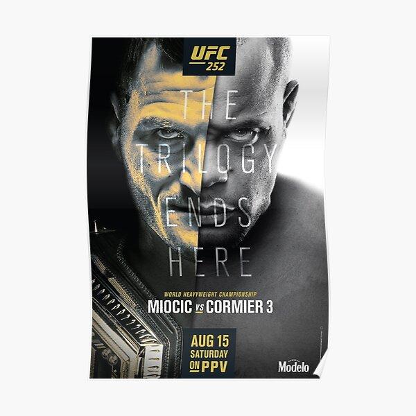 UFC 252 OFFICIAL: Miocic Vs Cormier 3 Poster