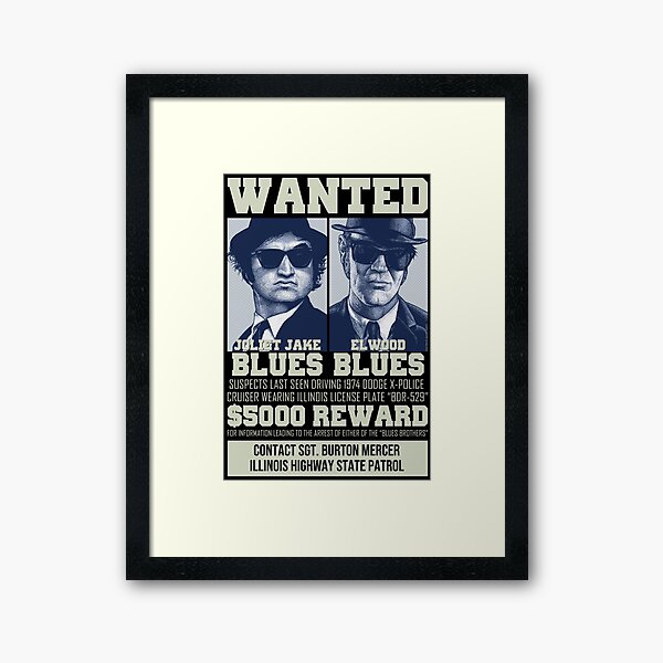 Blues Brothers - Wanted Framed Art Print